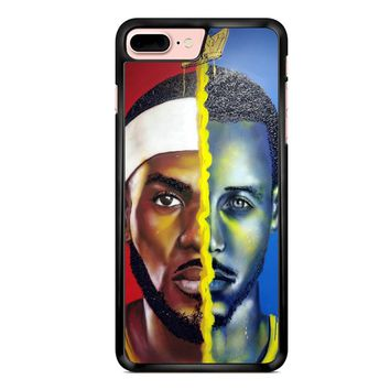 Lebron James Vs Steph Curry Painting iPhone 7 Plus Case