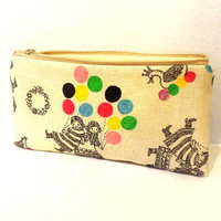Pencil Case Zipper Pouch Cosmetic Bag - Children and Colorful Balloons
