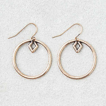 AEO Geo Shape Gold Hoops , Gold