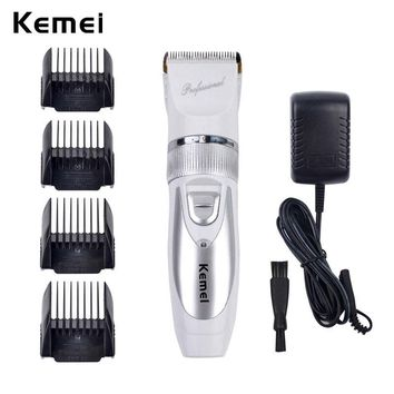 Kemei Rechargeable Hair Trimmer Electric Hair Clipper Shaver Trimmer Men Shaving Machine Replacement Titanium Clipper Blade