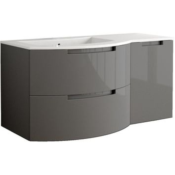 Oasis 53 in. Wall Mounted Bathroom Vanity Right Cabinet Set Bath Furniture