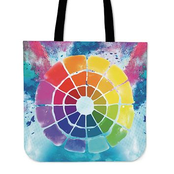 Color Wheel Linen Tote Bag - Promo