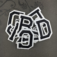 black letters patch iron on letters name letters patch embroidered patch iron on patches iron on patch sew on patch