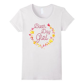Birthday Shirts For Girls Pink Glitter Effect