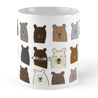 'Hand Drawn Bear Faces ' Mug by DoucetteDesigns