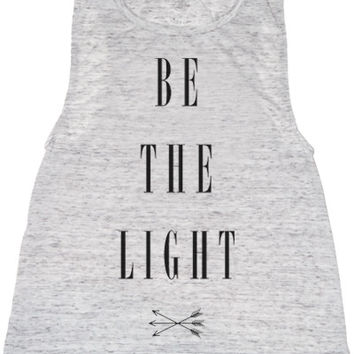 White Be the Light  Muscle Tee