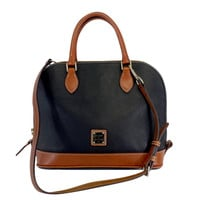Dooney & Bourke- Navy & Brown Leather Convertible Bag