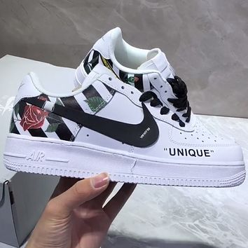 Nike Air Force 1 Flower pattern fashionable leisure shoes