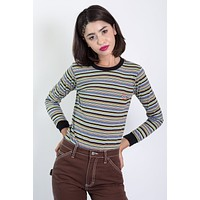 Stripe Horseshoe Logo Long Sleeve by Dickies Girl