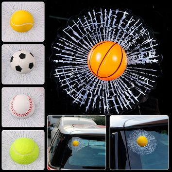 CITALL Universal Car Auto SUV Truck Pick-up Creative Funny 3D Hit Window Sticker Windshield Glass Surface Decoration