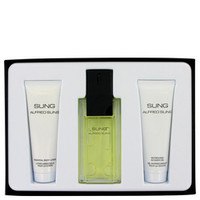 Alfred SUNG by Alfred Sung Gift Set -- 3.4 oz Eau De Toilette Spray + 2.5 oz Body Lotion + 2.5 oz Shower Gel (Women)