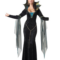 Witch Halloween Costumes Sexy For Women Witch Gown Cheaper Price Cosplay Witch For Girls Drop