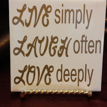 Love Coasters,Family initals Wedding gifts, Housewarming gifts, Sets of 4