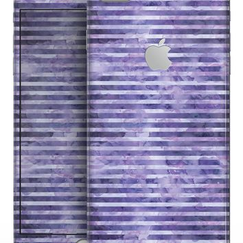 Purple Watercolor Stripes - Skin-kit for the iPhone 8 or 8 Plus
