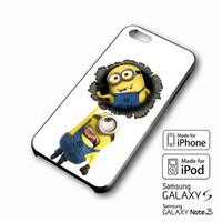 Minions iPhone case 4/4s, 5S, 5C, 6, 6 +, Samsung Galaxy case S3, S4, S5, Galaxy Note Case 2,3,4, iPod Touch case 4th, 5th, HTC One Case M7/M8