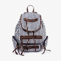 [grhmf2200032]Navy Style Vertical Stripes backpack