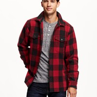 Plaid Wool-Blend Jacket for Men