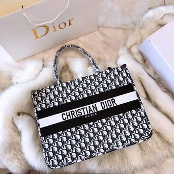 62f1be2bfe77 DIOR BOOK TOTE BAG IN EMBROIDERED DIOR OBLIQUE CANVAS
