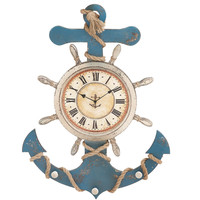 Attractive Unique Styled Wood Anchor Clock