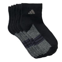 adidas 6-Pack ClimaLite Quarter Socks - Boys 7-11, Size: