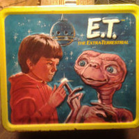 E.T. The Extra Terrestrial Metal Lunchbox - NO Thermos - 1982 - Vintage