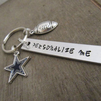 Personalized Dallas Cowboys Football Keychain