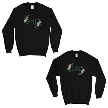 Big Little Floral BFF Matching Sweatshirts Gift Powerful Perfect