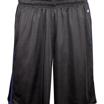 Badger 4121 Double-Time Pocketed Short - Carbon Royal