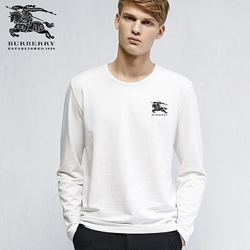 new burberry mens long sleeve hoodie 100 cotton top