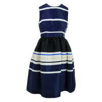 Kate Spade Womens Striped Sleeveless Party Dress