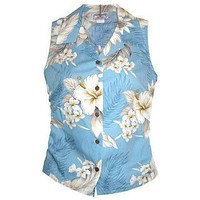 sky hawaiian sleeveless blouse