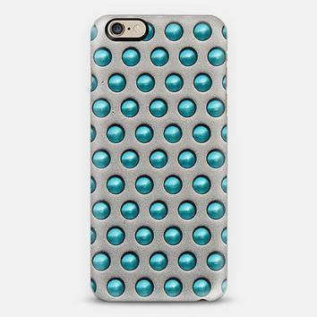 Metallic Drops Blue iPhone 6 case by Alice Gosling | Casetify