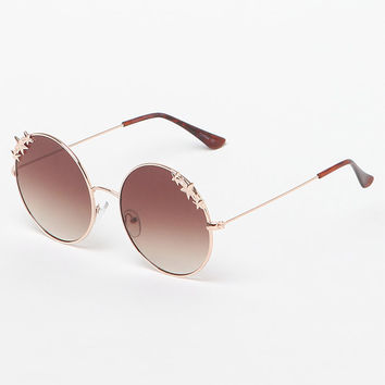 LA Hearts Star Metal Round Sunglasses at PacSun.com