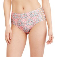 Marilyn Monroe Women's Retro High-Waisted Bikini Bottom With Cutouts - Walmart.com