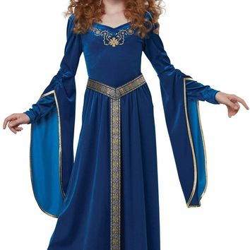 Sapphire Medieval Princess Child Costume - Free Shipping