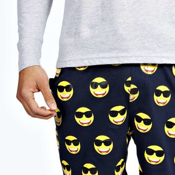 Long Sleeve Emoji PJ Set