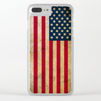 Vintage American Flag Clear iPhone Case by Smyrna