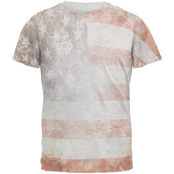 4th of July American Flag Star Spangled Banner Men's Soft T-Shirt