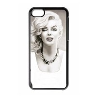 Marilyn Monroe Plastic Case/Cover FOR Apple iPhone 5C, Hard Case Black/White