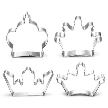 Cool 4 styles Crown Cookie Cutter stainless steel crown mold King Prince Queen Princess crown cake decoration tool H918AT_93_12