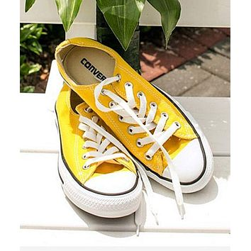 Converse All Star Adult Sneakers Low-Top Leisure shoes Yellow 4a70467e0