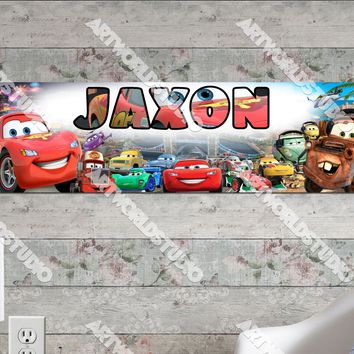 Personalized/Customized Disney Car Poster, Border Mat and Frame Options Banner 108