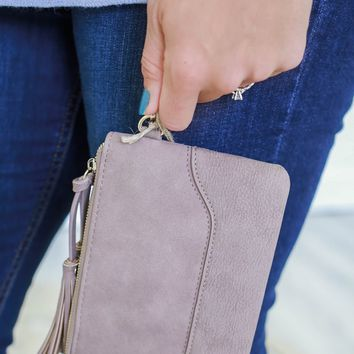 Make It Count Clutch - Mauve