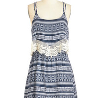 ModCloth Americana Mid-length Spaghetti Straps A-line Secret Set Dress