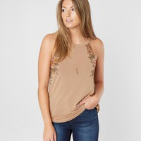 Gimmicks Metallic Floral Tank Top - Women's Tank Tops in Rust | Buckle