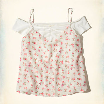 Girls Cami Overlay Off-The-Shoulder Top | Girls New Arrivals | HollisterCo.com
