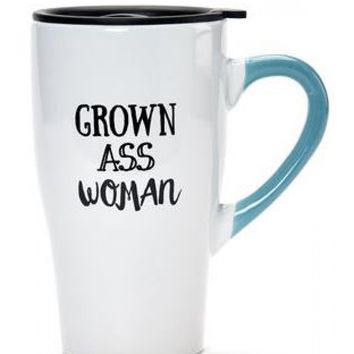 Grown Ass Woman Ceramic Travel Mug