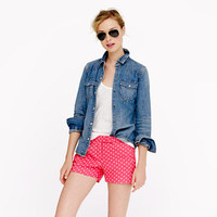 Polka-dot linen short - shorts - Women's new arrivals - J.Crew
