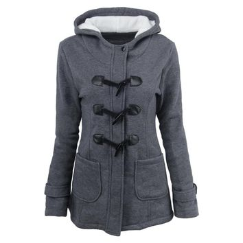 Women's Jacket Winter Single Breasted Coat For Women Solid Slim Women's Park Coat Thick Warm Outwear