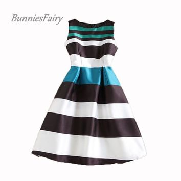89ed3fbceb09e Shop Striped 50's Dress on Wanelo